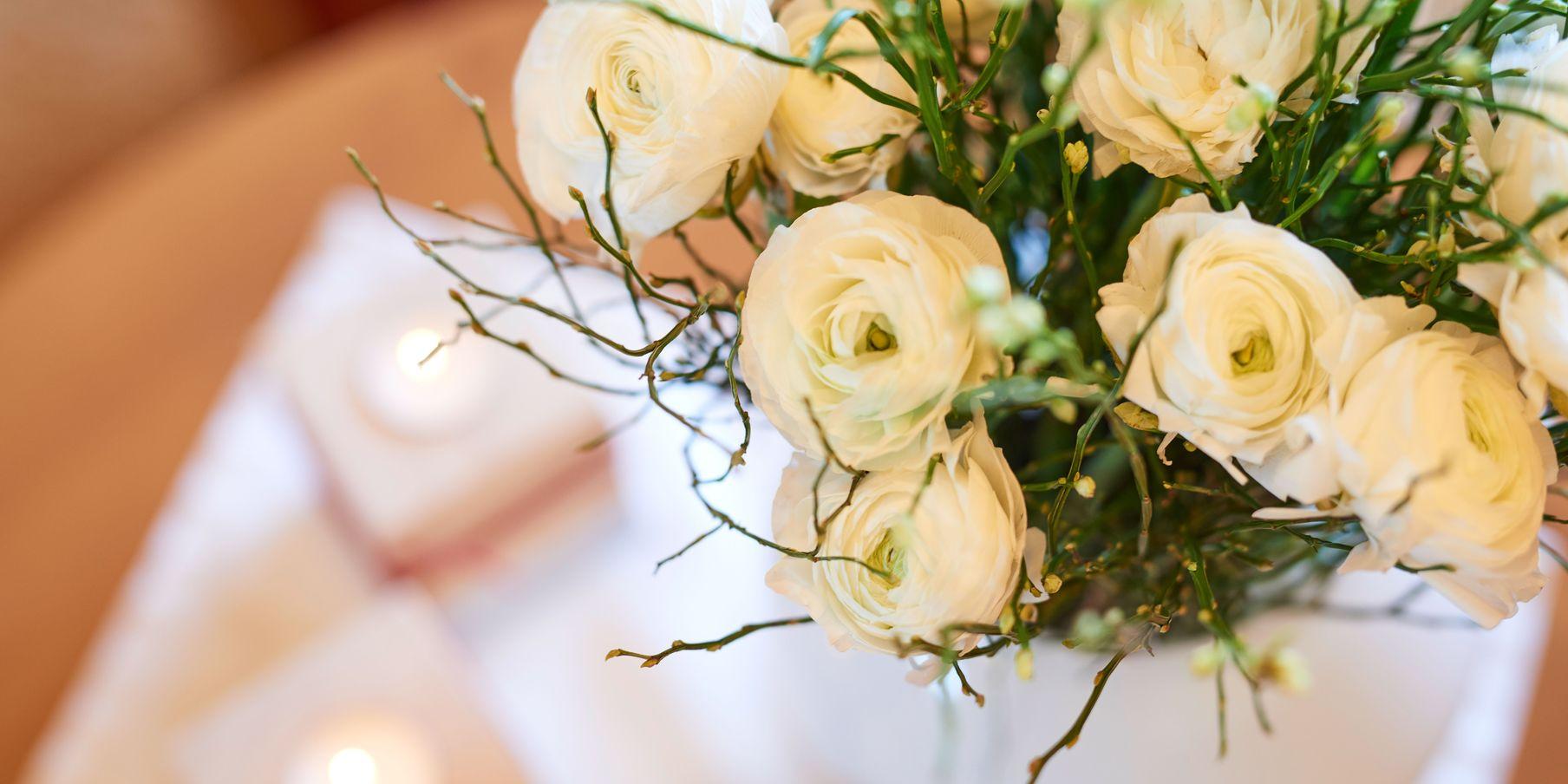 Detailaufnahmen Blumenstrauss von oben