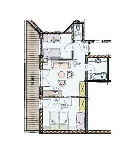 Grundriss Gerlossteinwand Suite 106