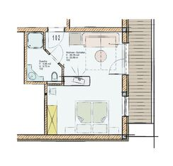 Floor plan of Standard family room 102