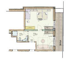 Grundriss Inntal Suite 101